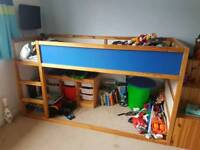 Boys Ikea mid sleeper bed with mattress