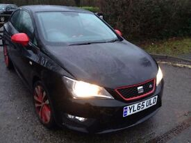 65 PLATE SEAT IBIZA FR RED 1.2 TSI / BLACK EDITION / CAT D / 6,000 MILES ONLY / NEW CONDITION