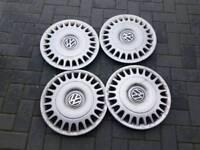 "Genuine VW T4 Caravelle 15"" set of hubcaps wheeltrims"