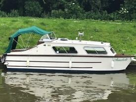 Canal cruiser 24ft dolphin brooklands avaition