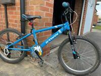 Blue racing boy 320 BTwin bike 20'