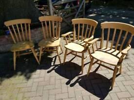 4 beach chairs/ carvers.