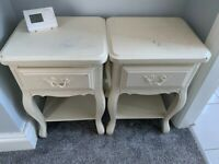 Bed side tables, 2 off