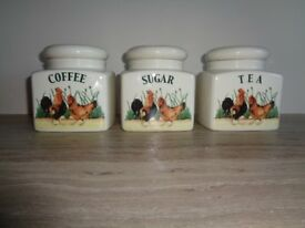 Coffee, Tea and Sugar containers
