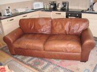 Laura Ashley bradford character leather sofa 3 seater sofa/Large 2 seater