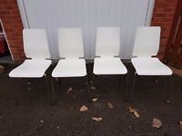 Ikea Vilmar White Dining Chairs FREE DELIVERY 0187