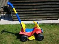Push along toddler quad bike
