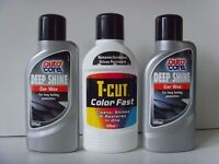 T-Cut Color Fast and 2x Auto Care Deep Shine Car Wax - New