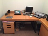 Complete set of home or professional office furniture.