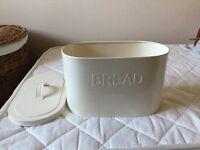 Marks and Spencer's beige metal bread bin