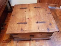 Pine Double CHEST- TOY box - BLANKET box