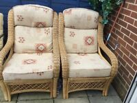 Pair if wicker chairs