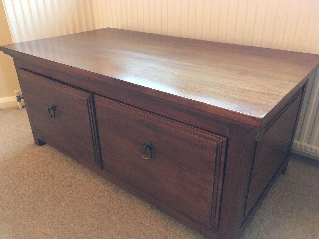 Multiyork solid dark wood coffee table | in Ashtead, Surrey | Gumtree