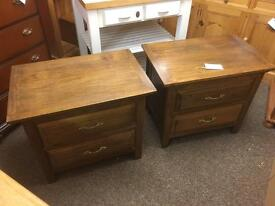 Solid oak bedside chests * free furniture delivery*