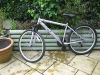 "Ladies Apollo Jewel Femtb bike, purple 17"" frame, 26"" wheels, !8 months old, hardly used."