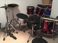 Sonor 7 piece drum kit