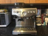 Sage barista express silver espresso machine coffee