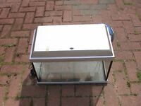 ****NO TANK****silver Elite hood with light for fish tank aquarium kol wembley