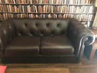 Sofa beds leather chesterfield