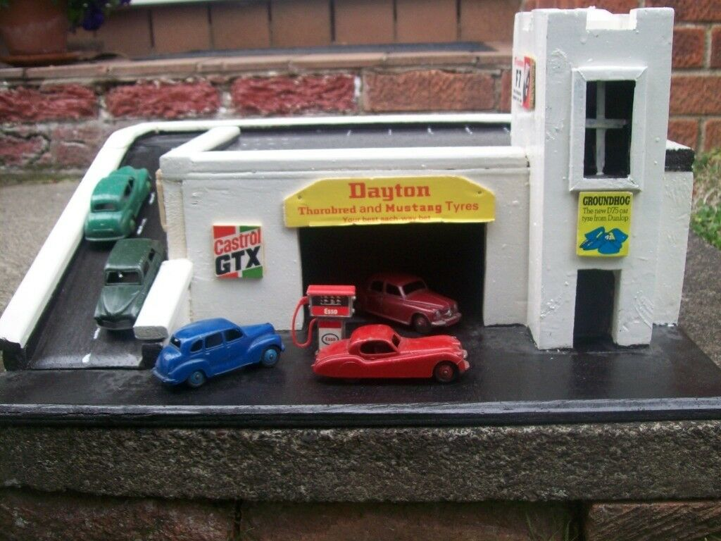 Scratch Built Vintage Toy Garage with Vintage Ads  c 1960's  Cars/Petrol  Pump Not Included  | in Buckstone, Edinburgh | Gumtree