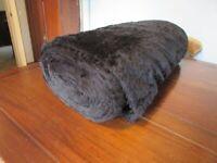 Roll Black Faux Fur Fabric 150cm Width x Aprox 10 Meters