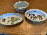 Royal Worcester Evesham Gold Serving Dishes