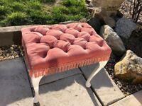 Pink dralon bedroom stool