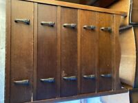 Mid 20th Century Oak Chest 5 drawers