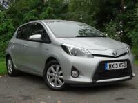 TOYOTA YARIS 1.5 T4 HYBRID 5d AUTOMATIC **LOW RUNNING COSTS** (silver) 2013