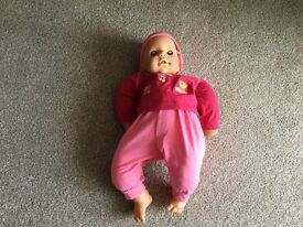 DOLL - CHOU CHOU BABY DOLL WITH BOTTLE, TOP AND BIB