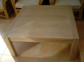 Large wood coffee table