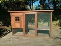 Large Double Height Rabbit Hutch/Run