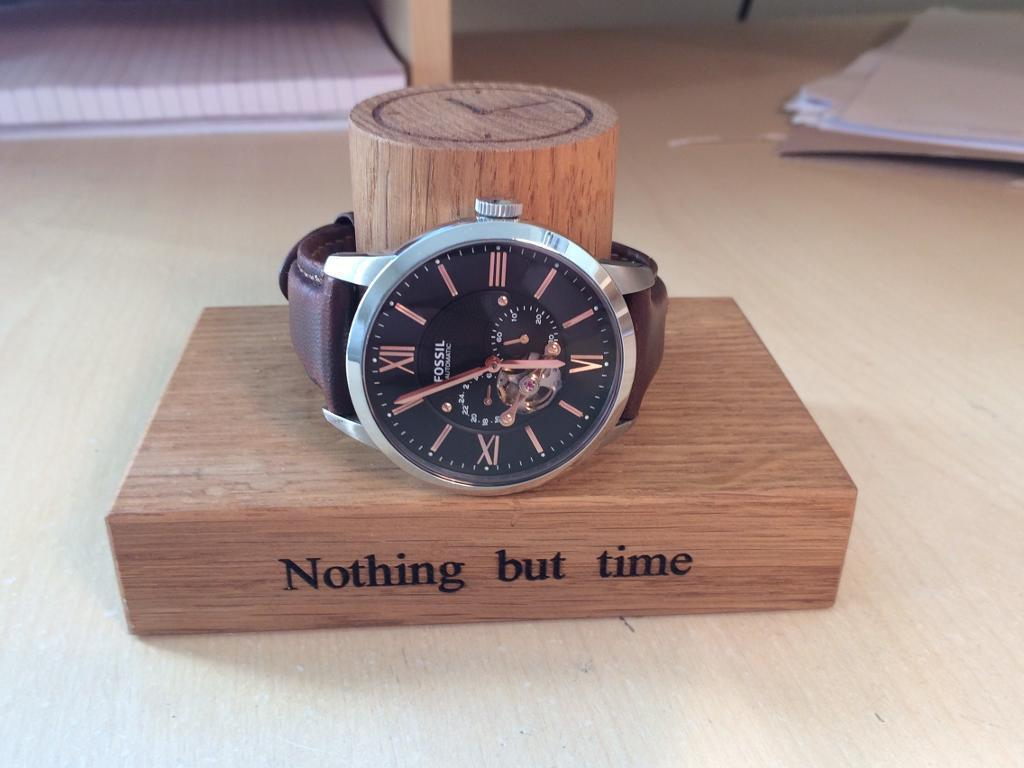 Solid oak hand craft Watch Stand