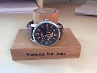 Solid oak hand craft Watch Stand