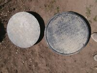 Manhole covers x 2 for domestic property