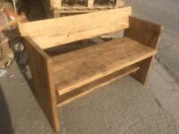 Garden Bench Handmade using Recycled Wood