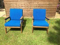 Pair of 1960's Modern Danish Style Teak Chairs by Centa