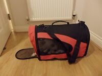 Black & Red cat or puppy carrier
