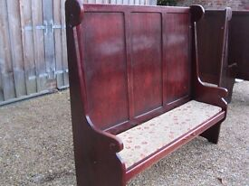 PEW / MONKS BENCH. SETTLE. Delivery possible. CHURCH PEWS , CHAPEL CHAIRS & PUB SEATS ALSO FOR SALE.