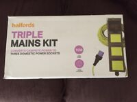 Halfords triple mains hook up kit