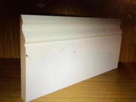 Ogee primed mdf skirting board 2x4.2m
