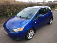MITSUBISHI COLT 2010 CZ2,LOW MILAGE 12 MONTHS MOT.FULL HISTORY