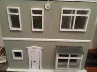 Large wooden dolls house, five rooms