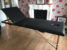 Massage table with accessories