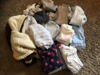 Large bundle baby boy clothes up to 1 month