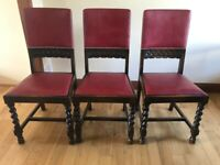 Vintage dining chairs set of 8 - very comfortable & sturdy