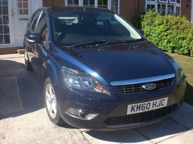 Ford Focus 1.6 TDCi Metalic Blue low mileage.
