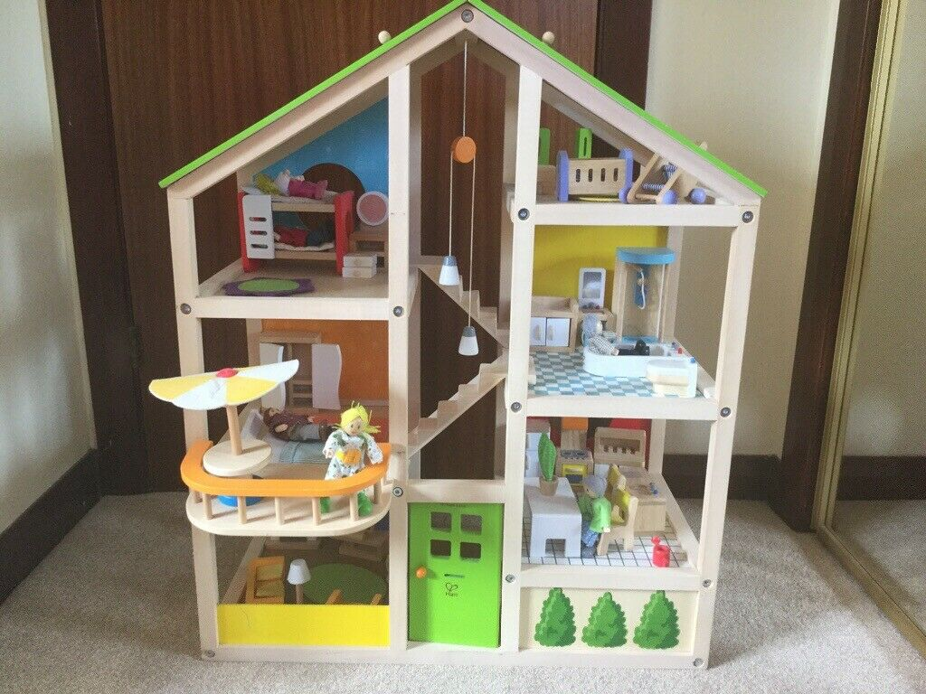 Hape Wooden Dolls House With Extra Accessories Over 100 New In Aberdeen Gumtree