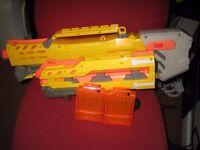 NERF GUN (LONGSHOT CS6) WITH CARTRIDGES