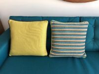 Two pairs of cushions, Heals of London